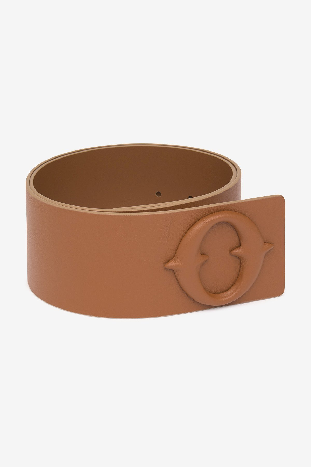 Leather high belt