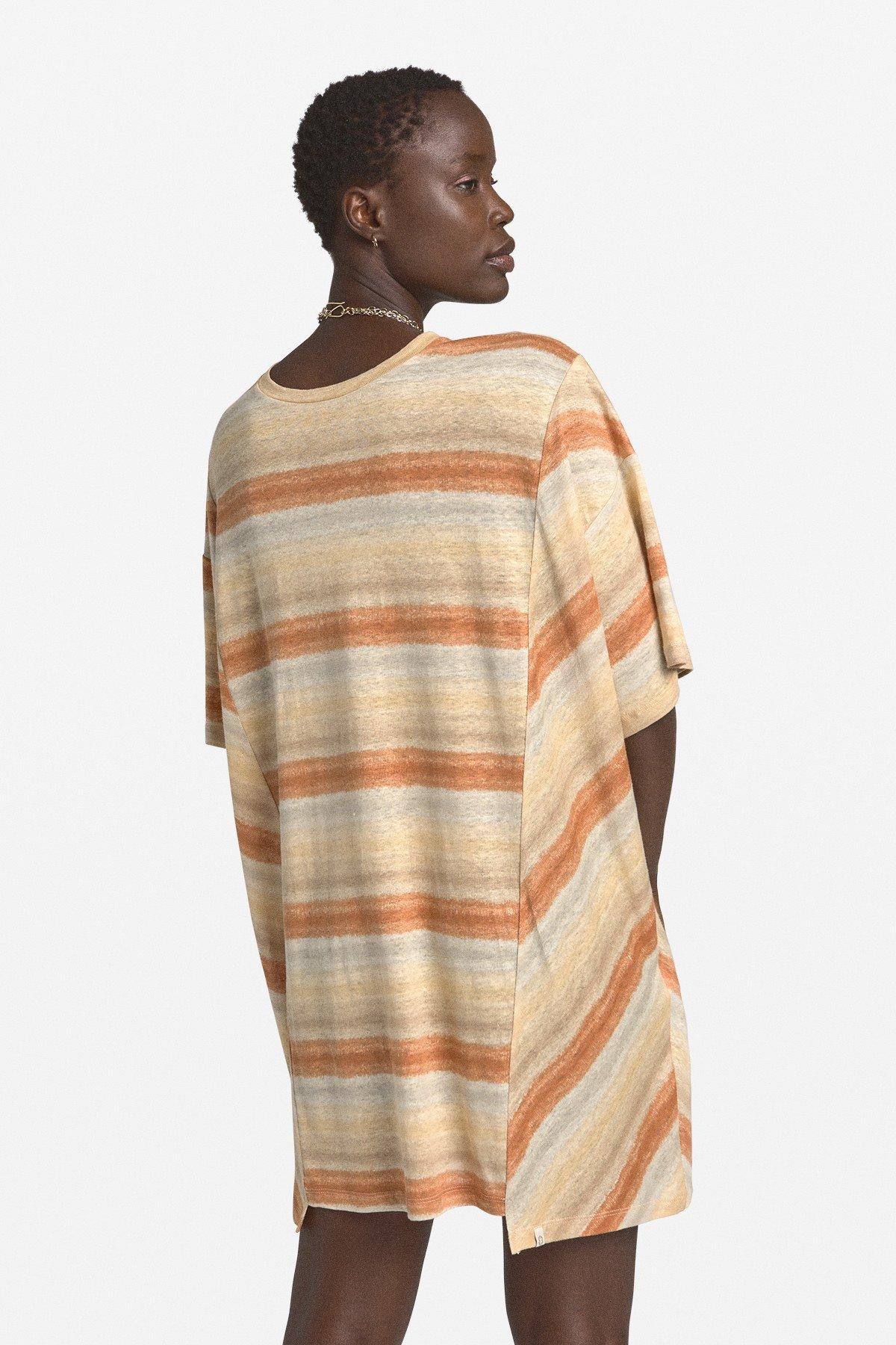 Linen flared dress