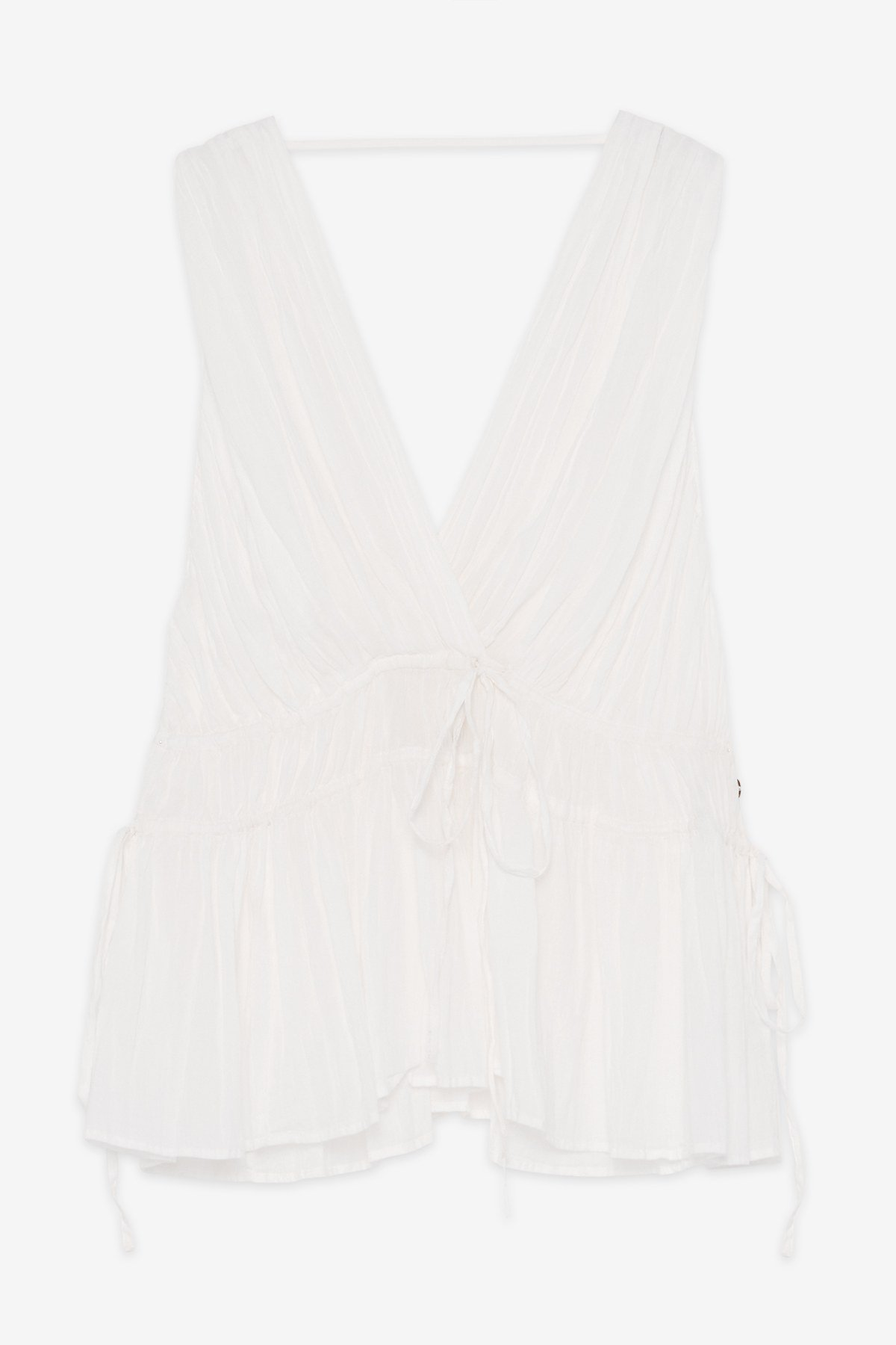 Cotton top with tucks