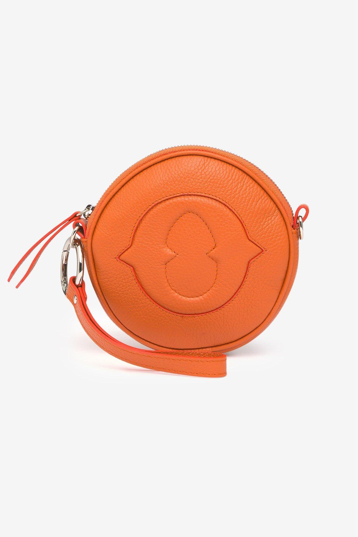 Leather mini handbag