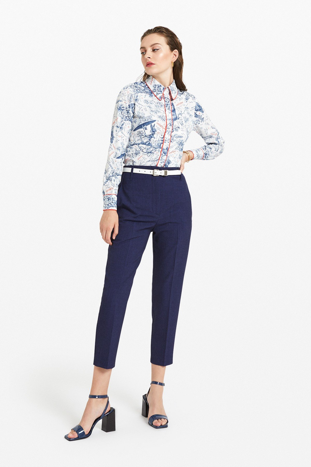 Cotton shirt with 'Biosfera' print