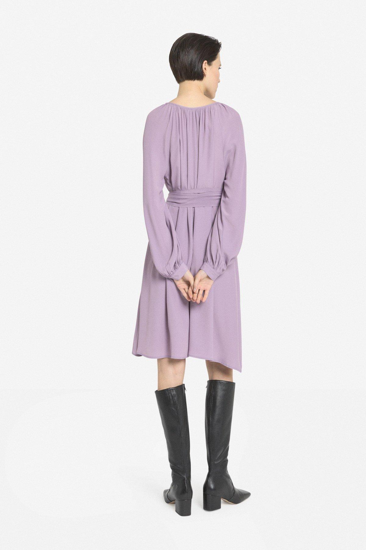 Mini dress with pleats