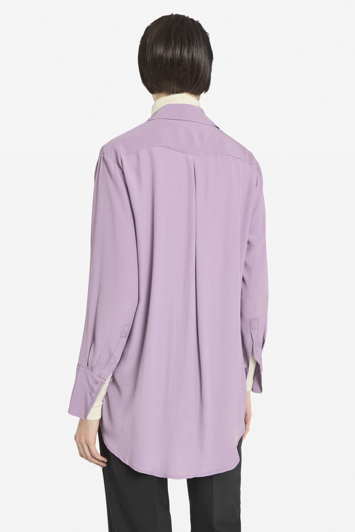 Shirt with ruches