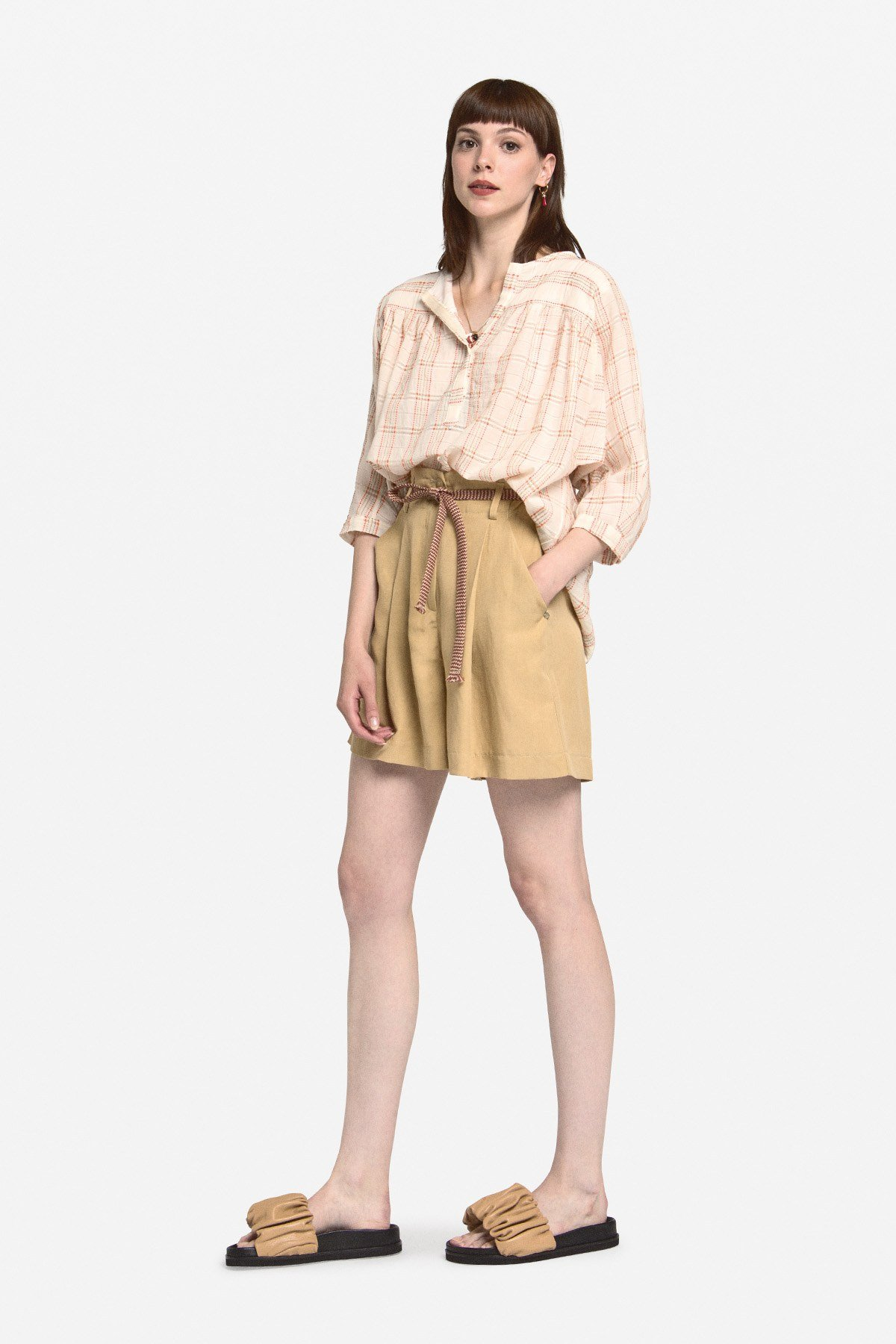 Cotton flared blouse