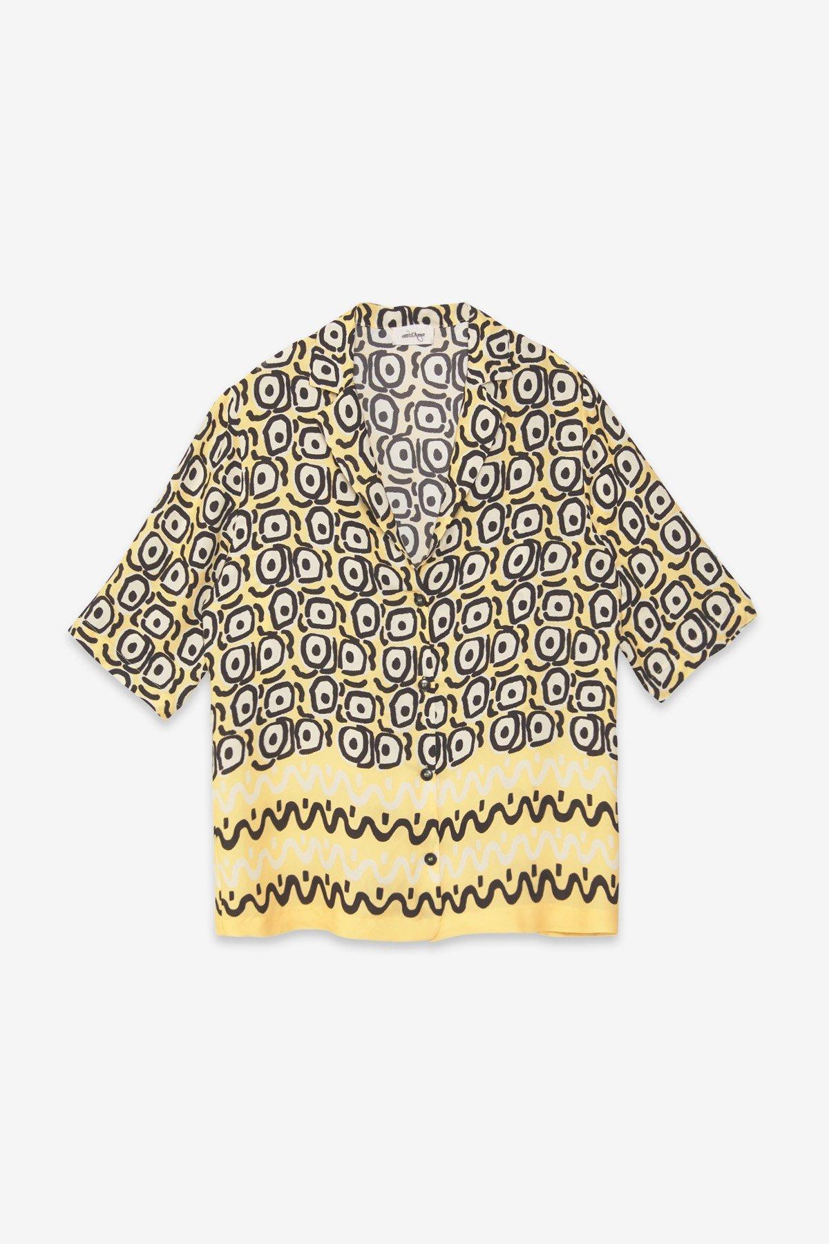 Viscose oversized shirt