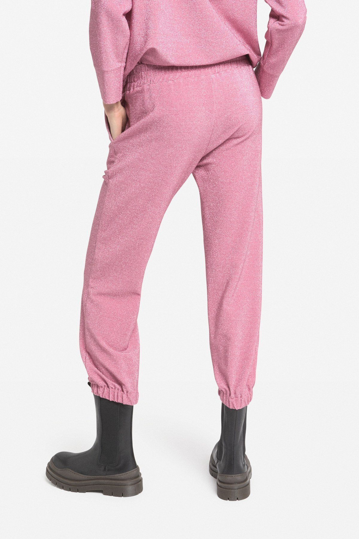 Joggers with lurex