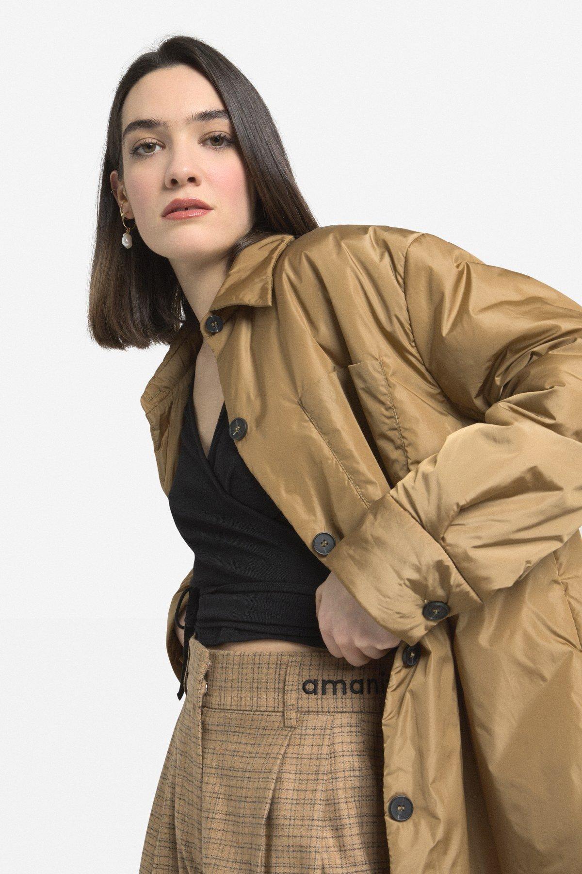 Shirt down jacket