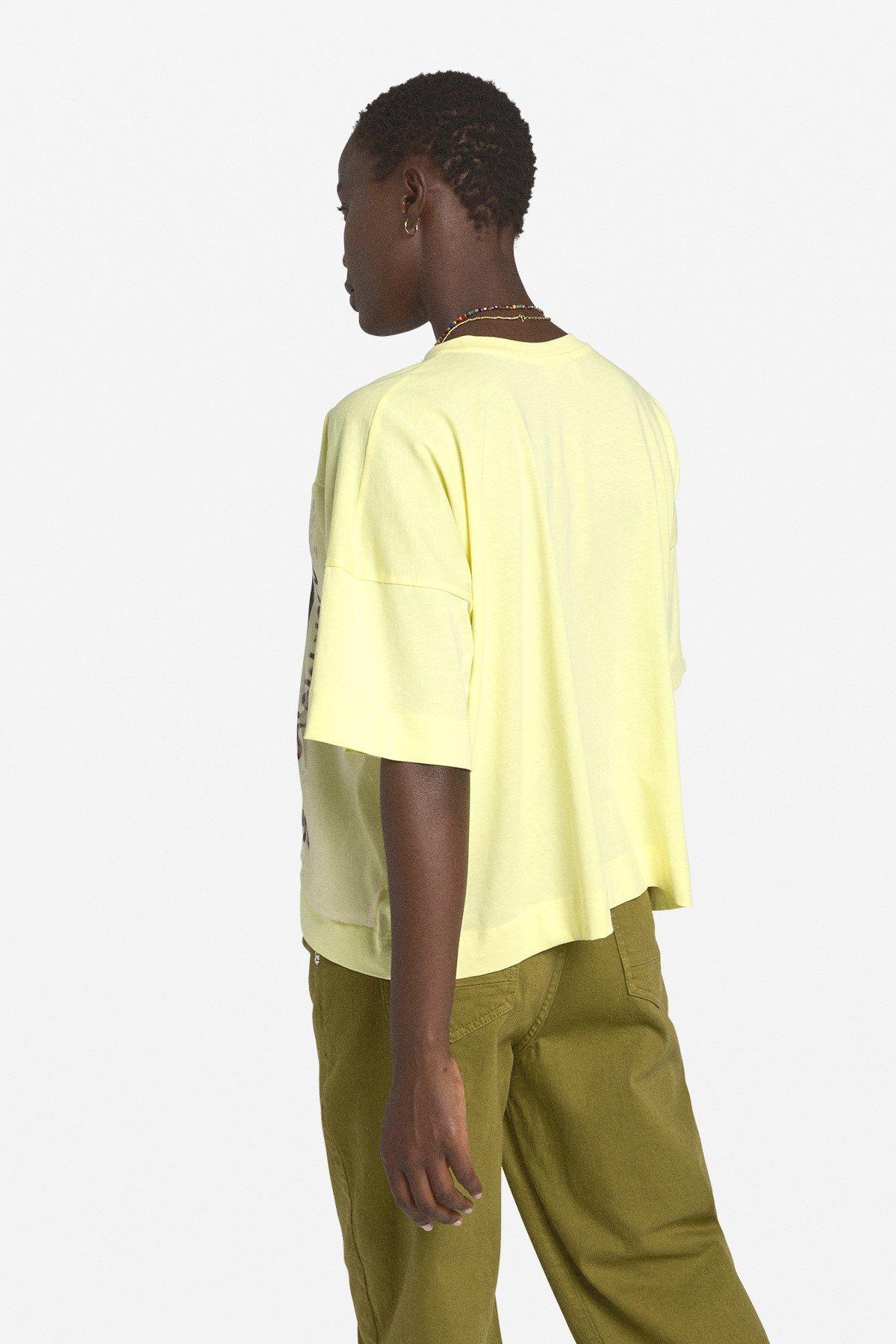 Cotton flared T-shirt