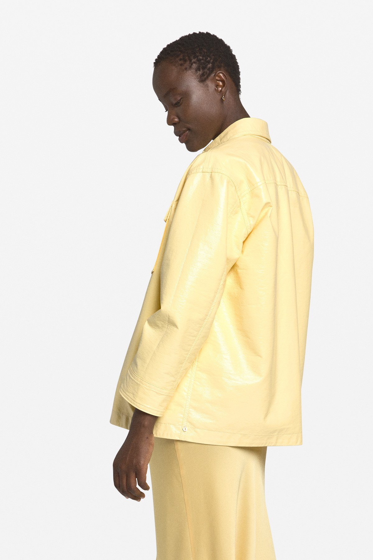 Vynil faux leather shirt