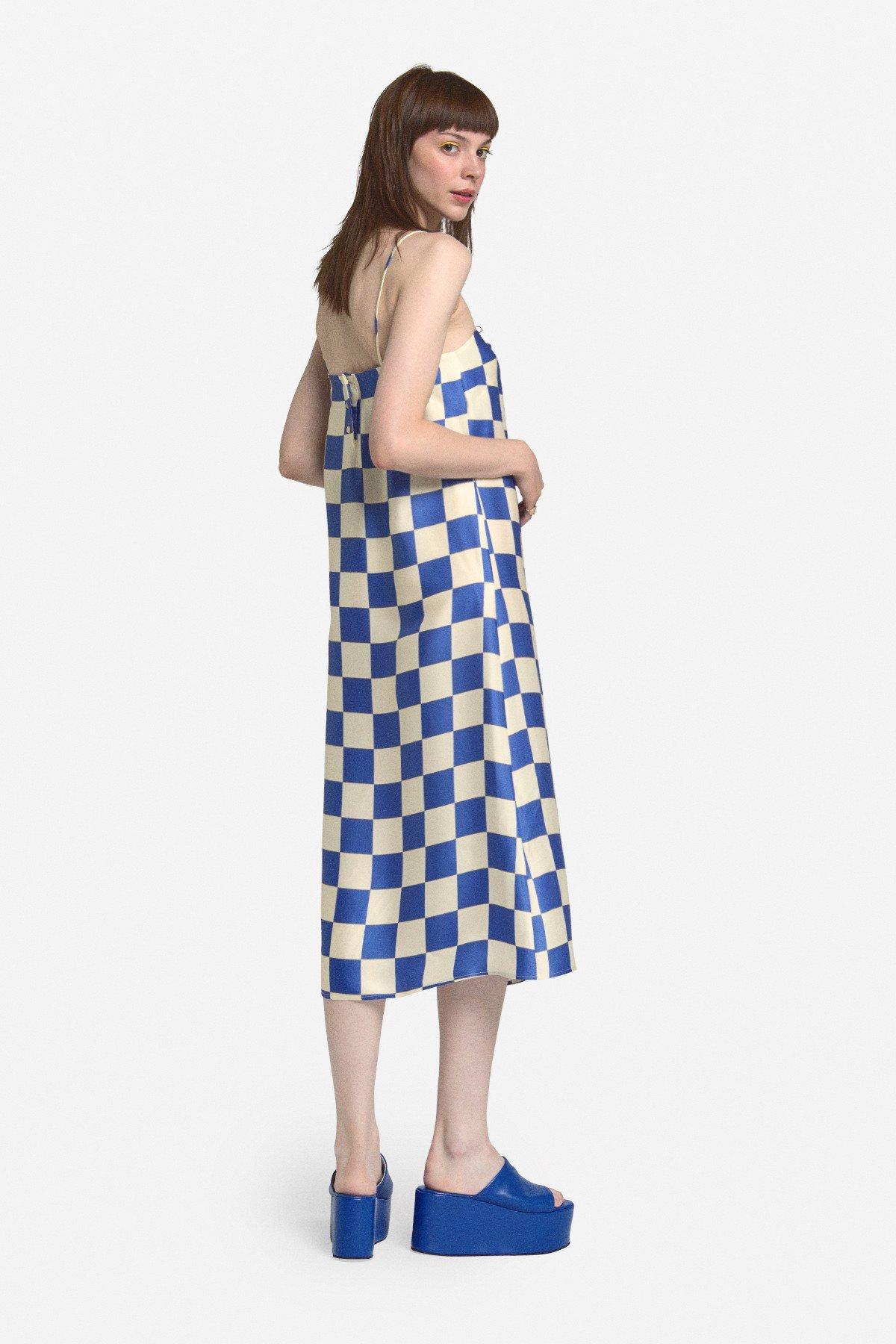Printed viscose midi dress