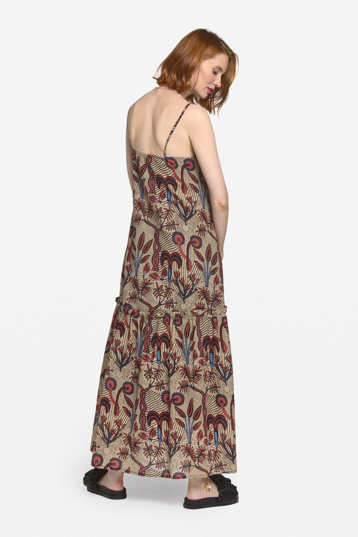 Printed cotton oversized dress