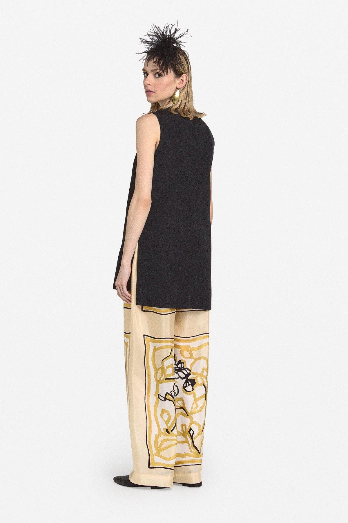 Silk palazzo trousers