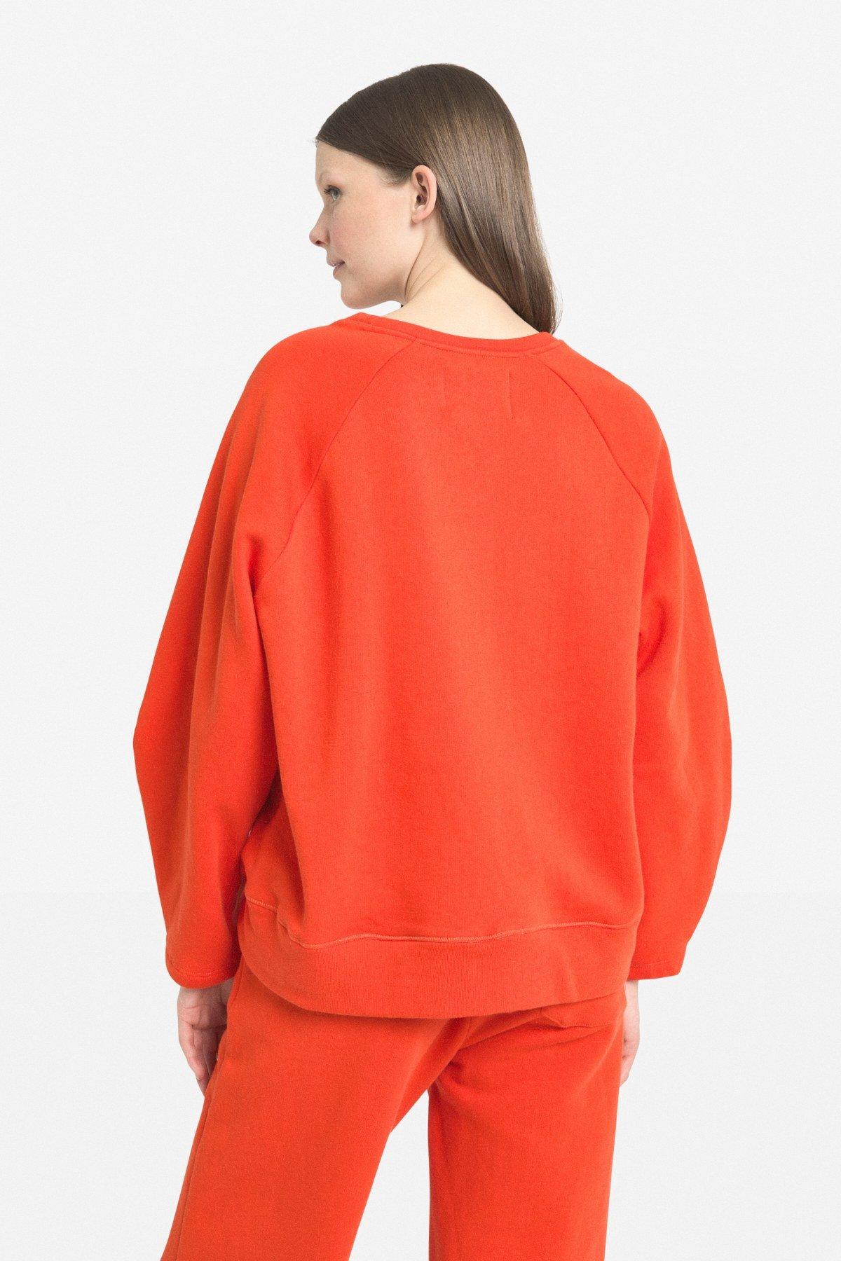 Flared sweatshirt