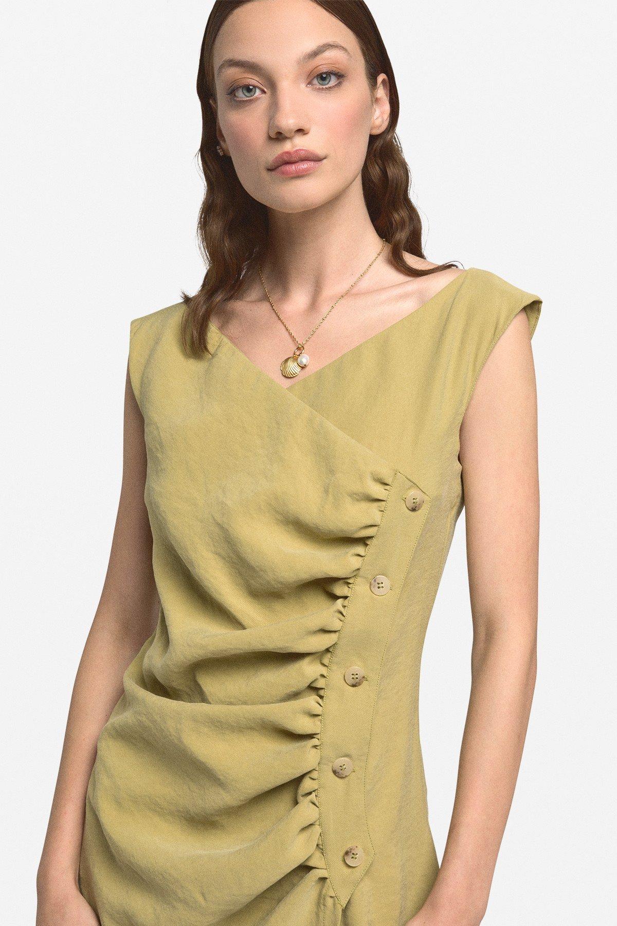 Criss-cross mini dress