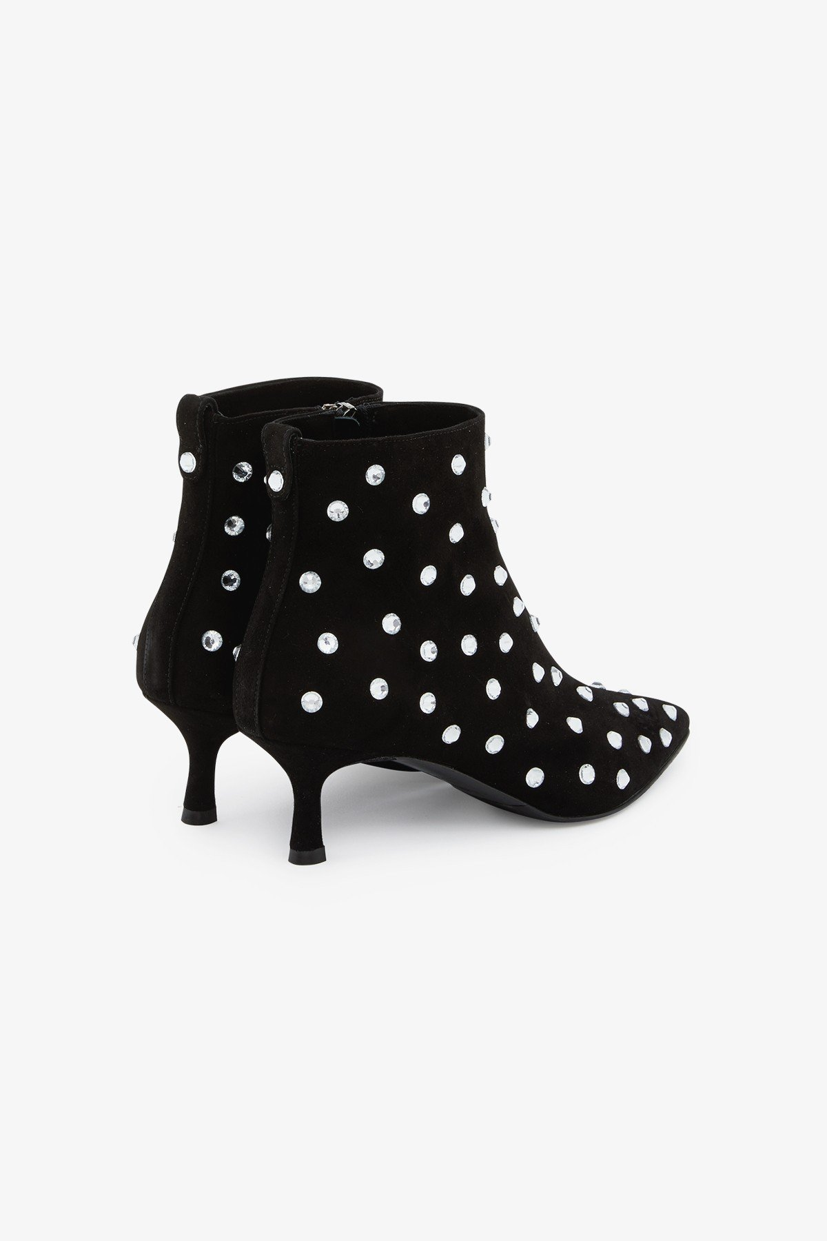 Leather ankle boots with appliques