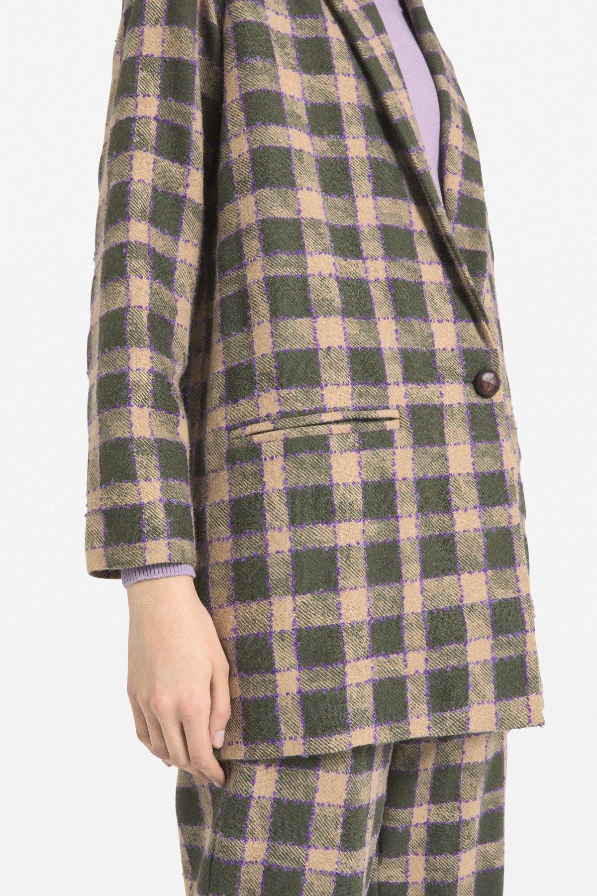 Oversized one-button jacket
