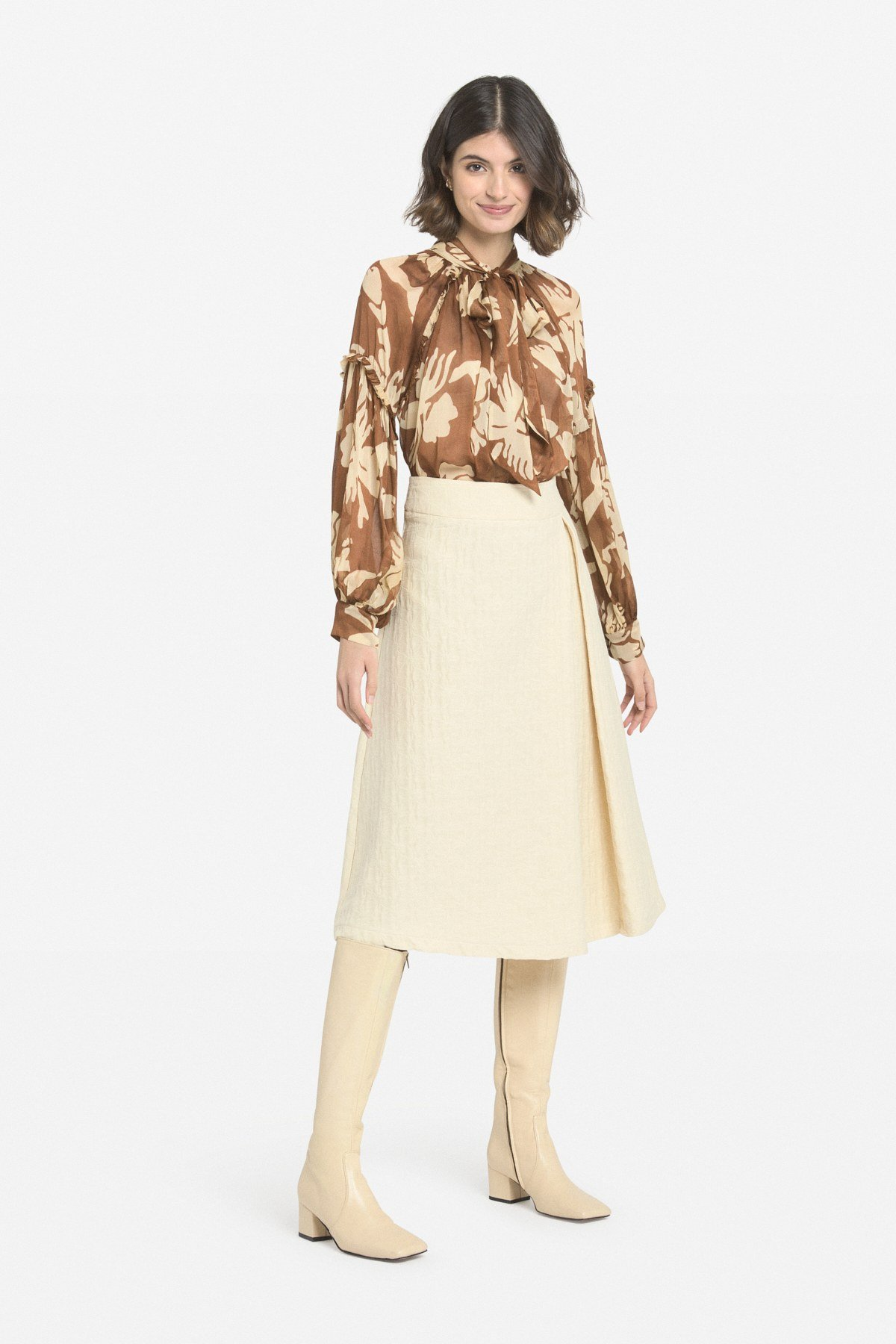 Viscose blouse with pleats