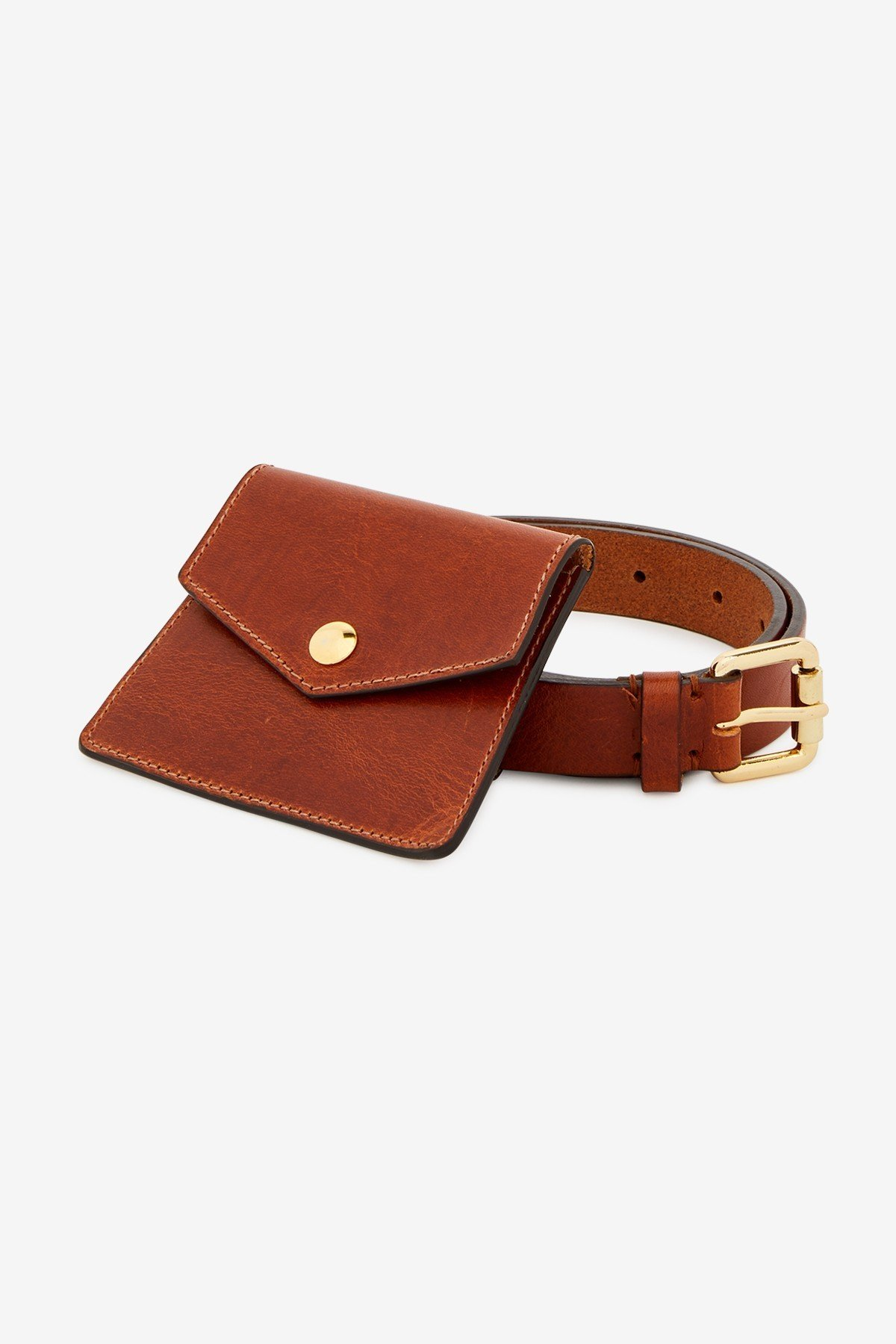 Leather belt with catches