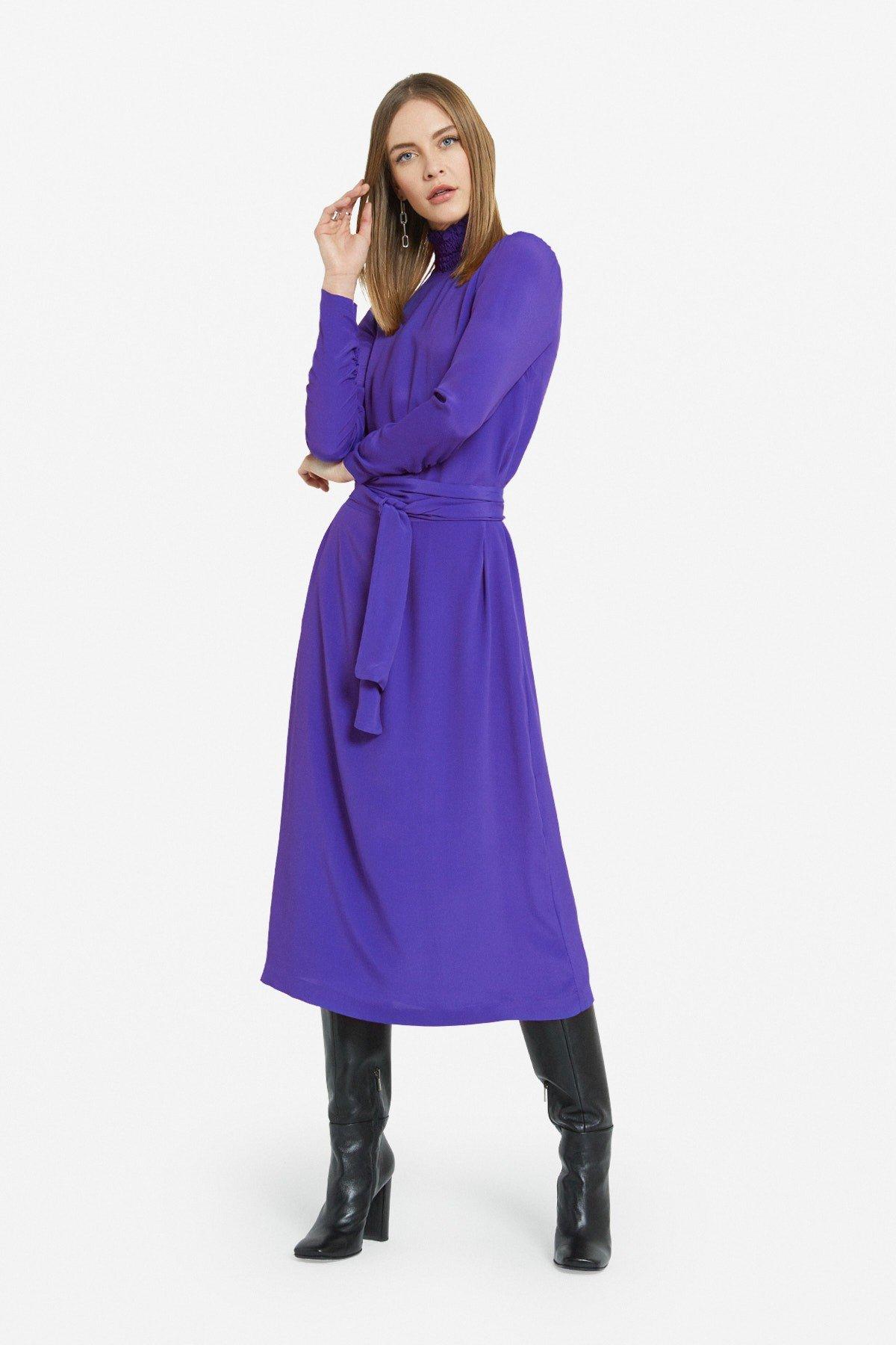 Turtleneck long dress