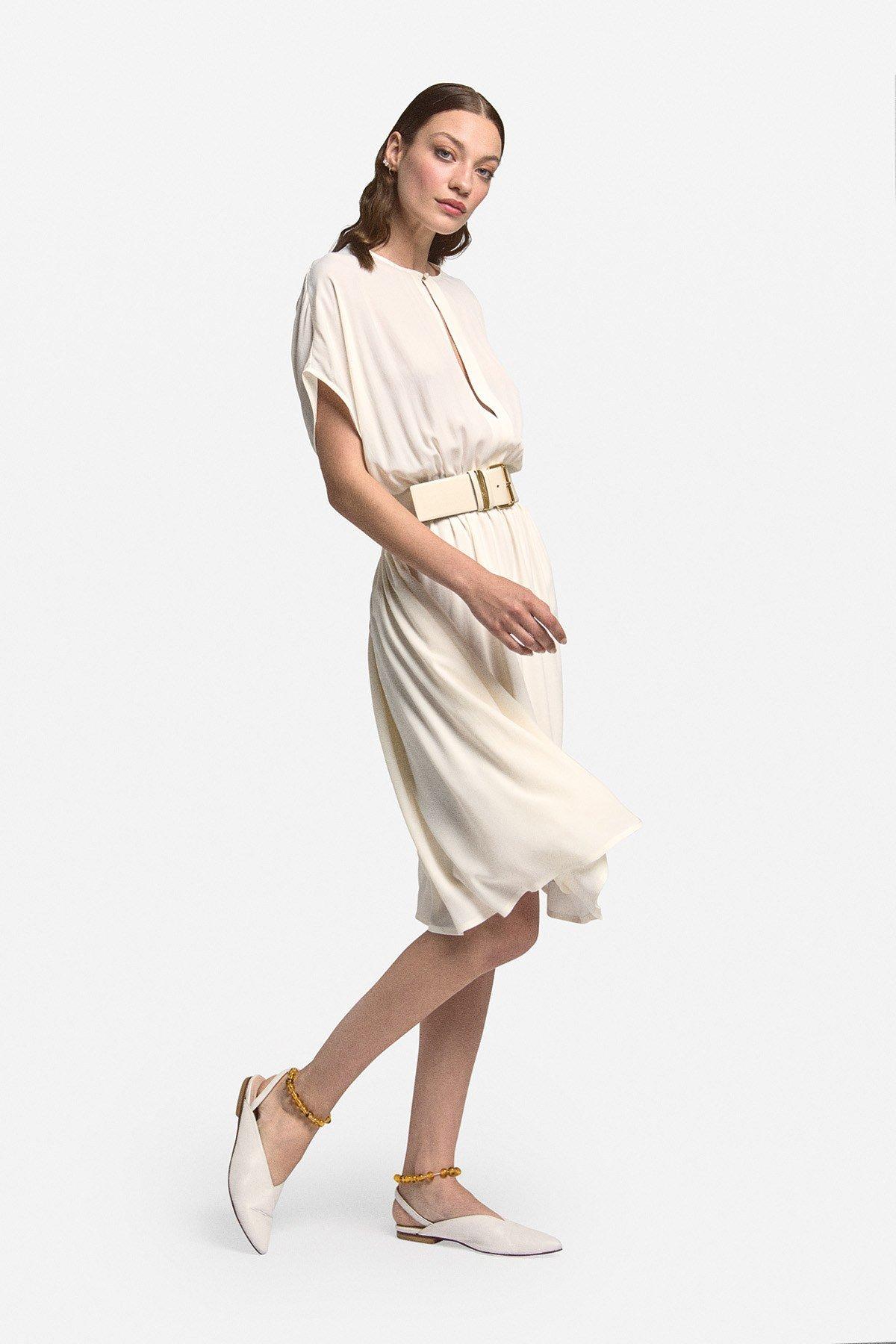 Fluid midi dress