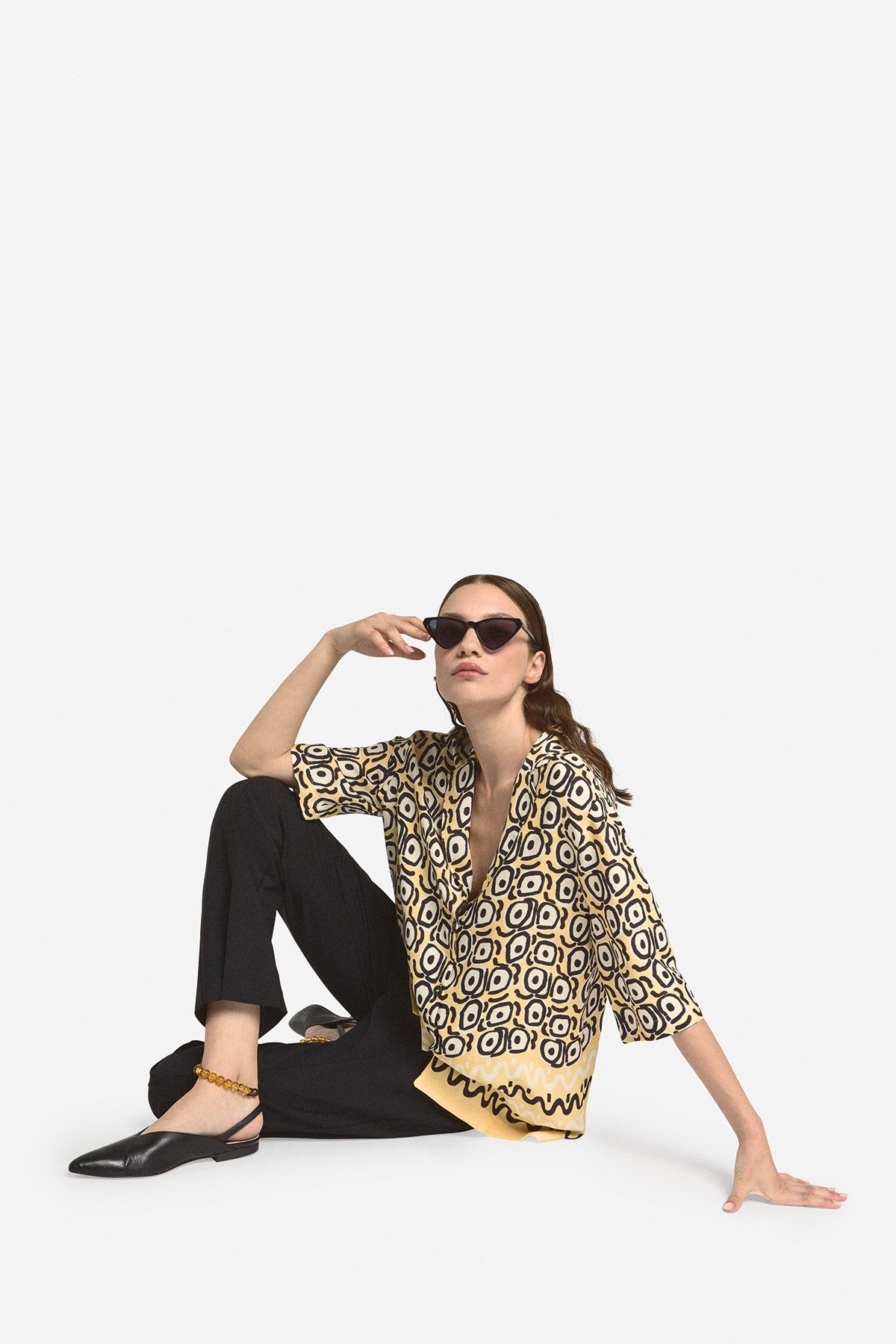 Viscose oversized shirt