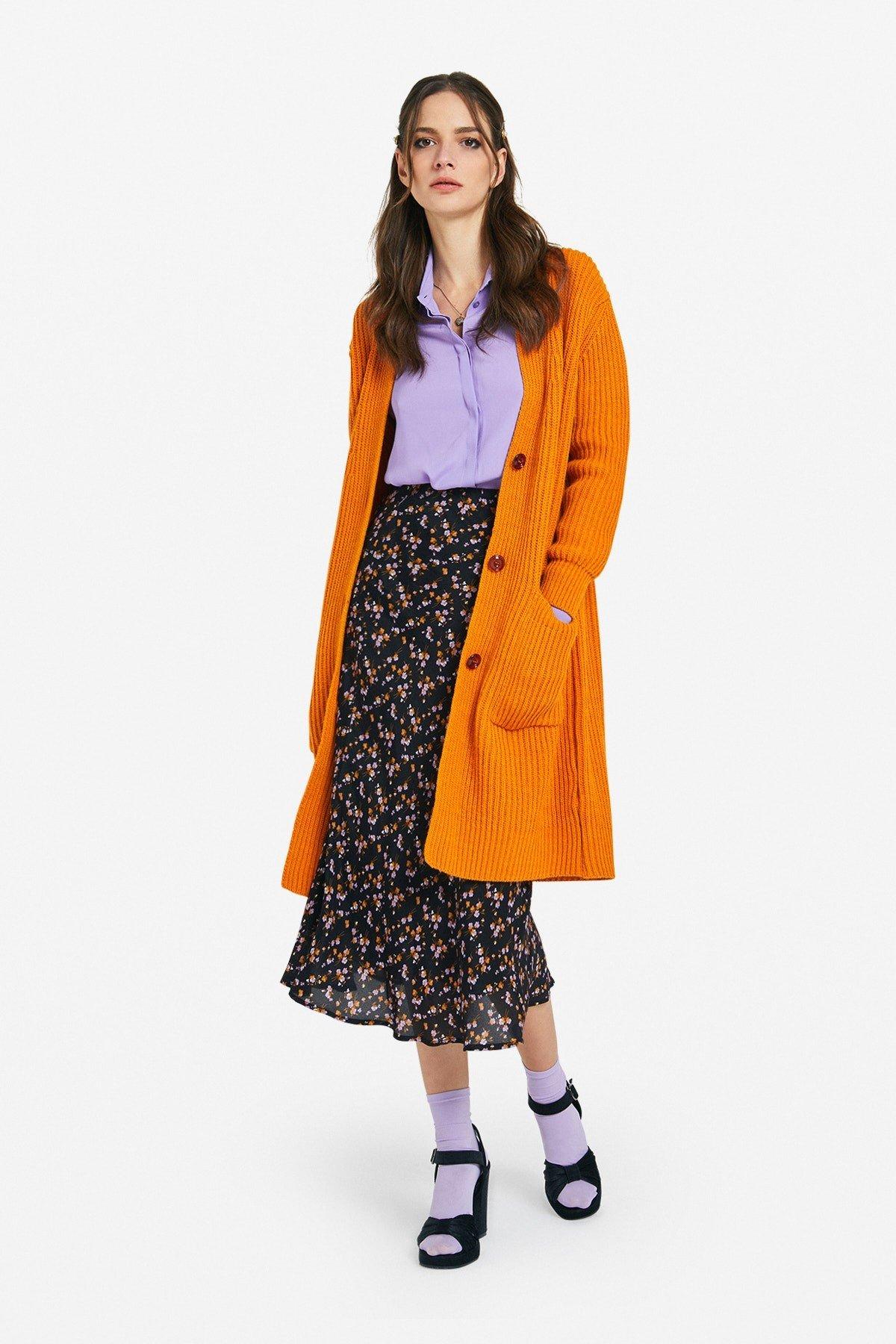 Viscose long skirt