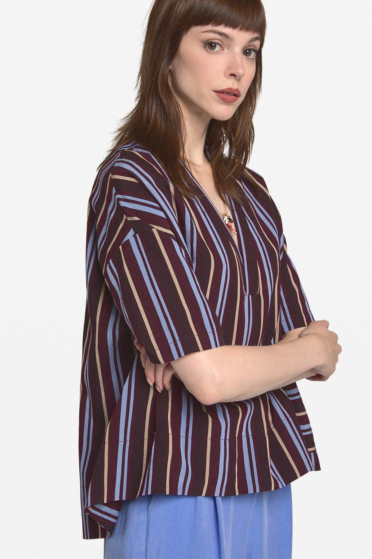 Viscose flared blouse