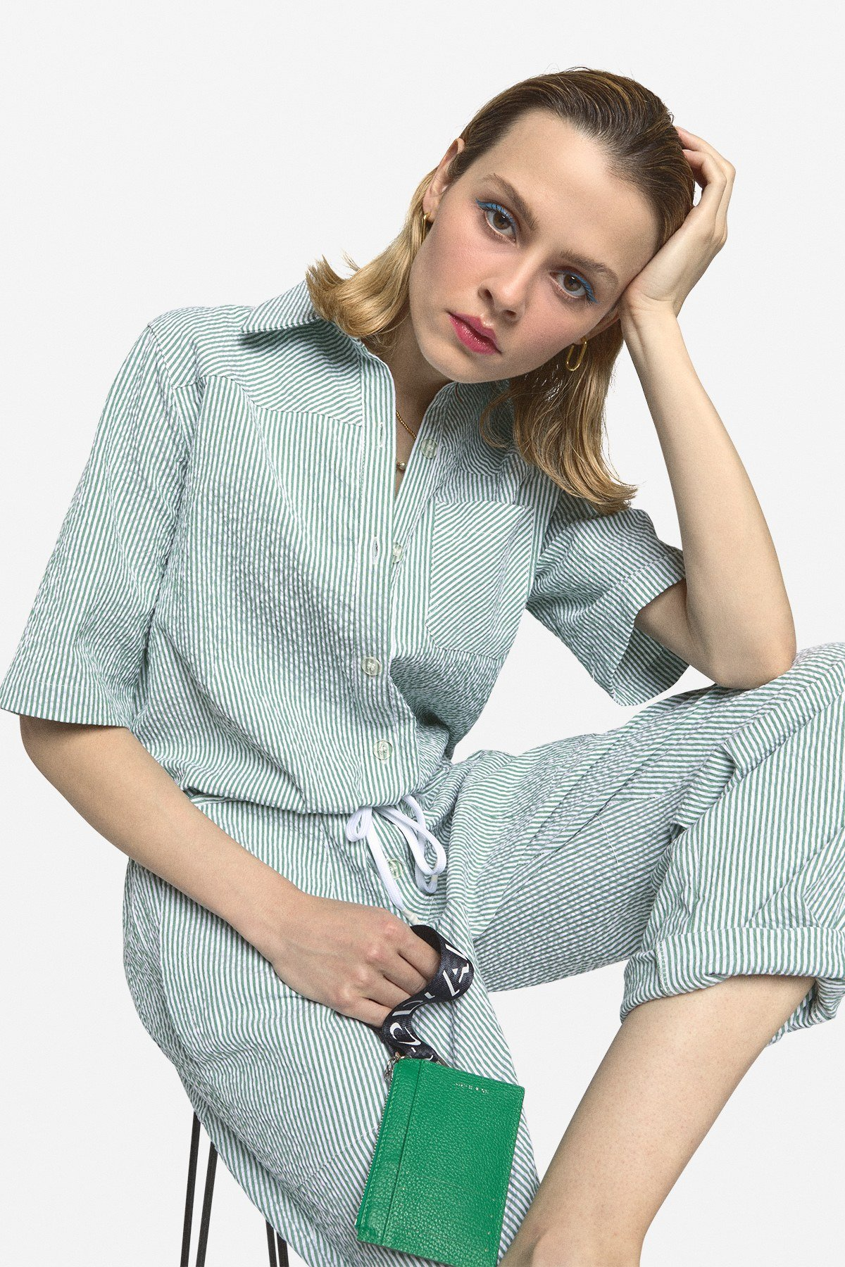 Jumpsuit with drawstring