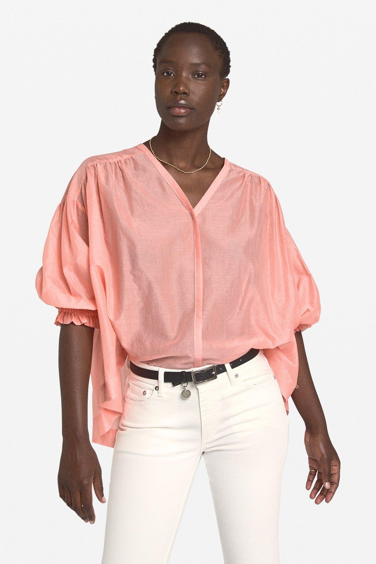Cotton flared shirt