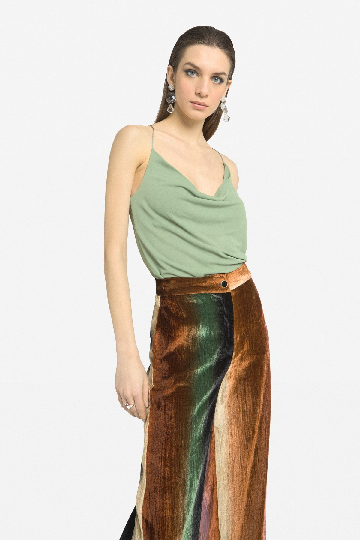 Tank top with pleats