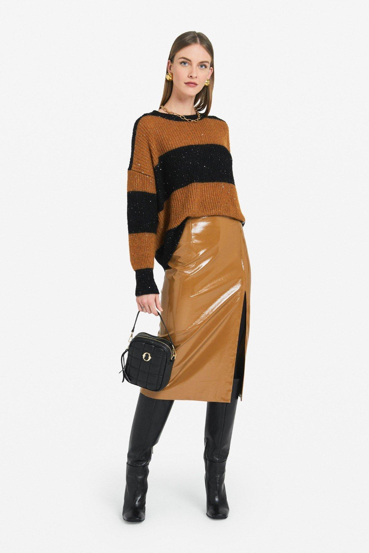 Striped oversized jumper