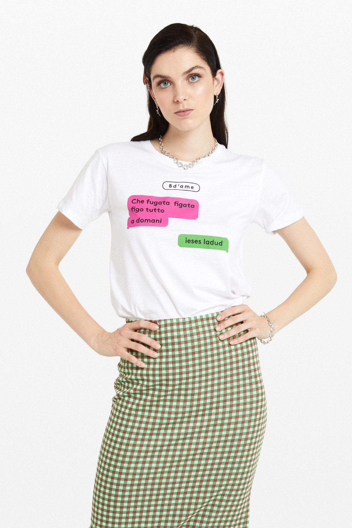T-shirt with 'Chat' print