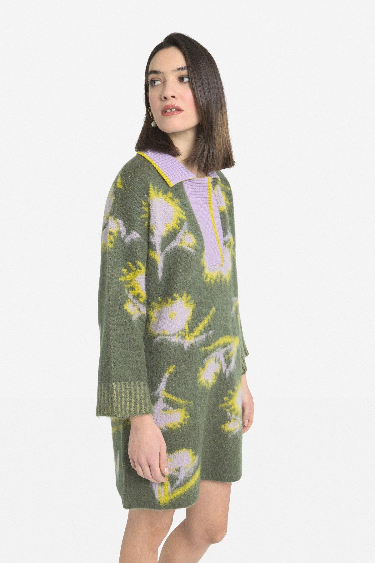 Mohair blend mini dress