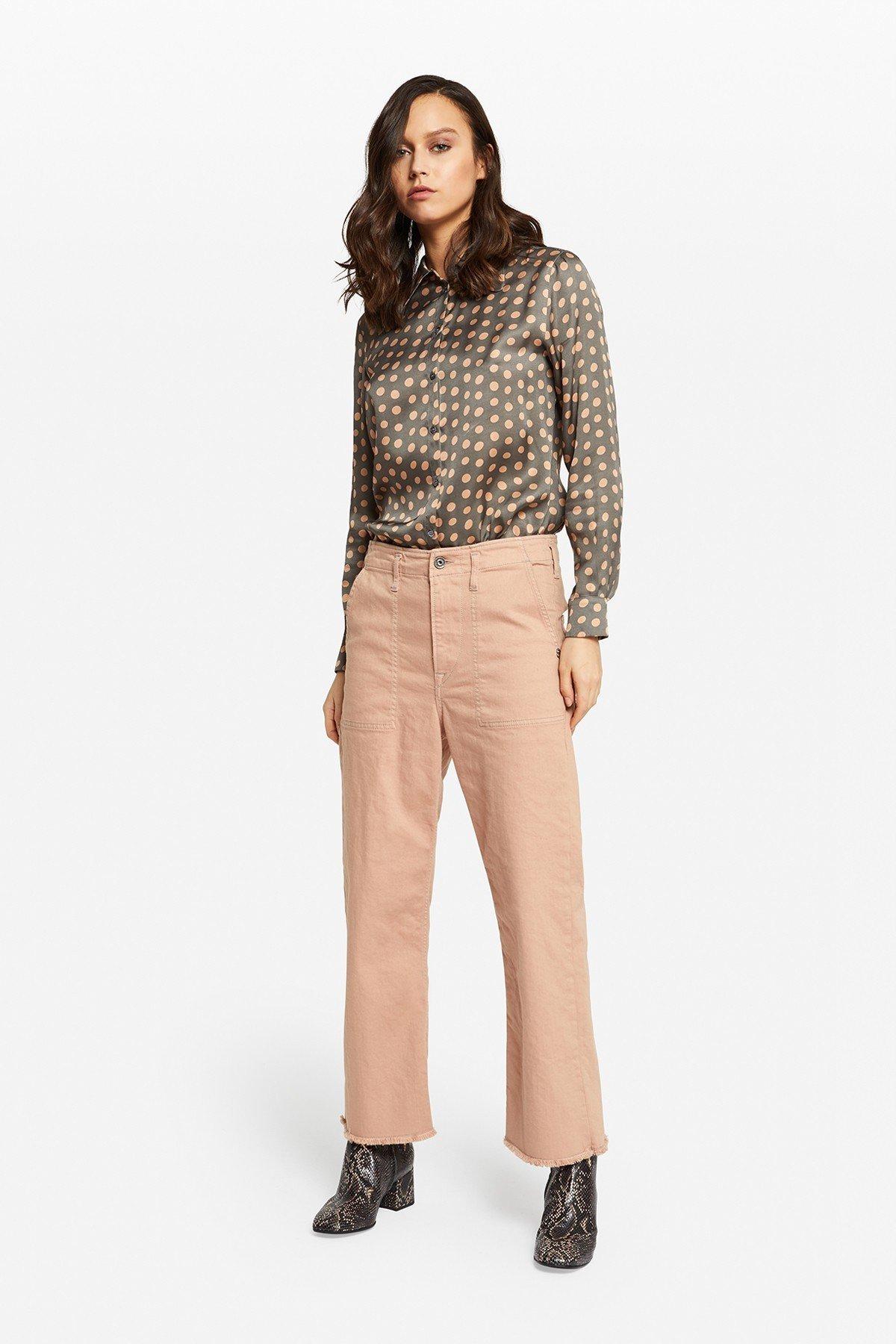 Fatigue denim trousers