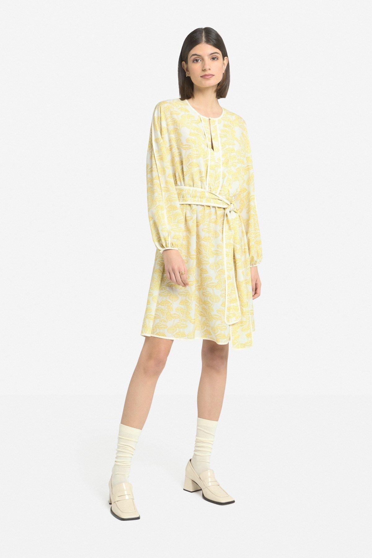 Mini dress with trims