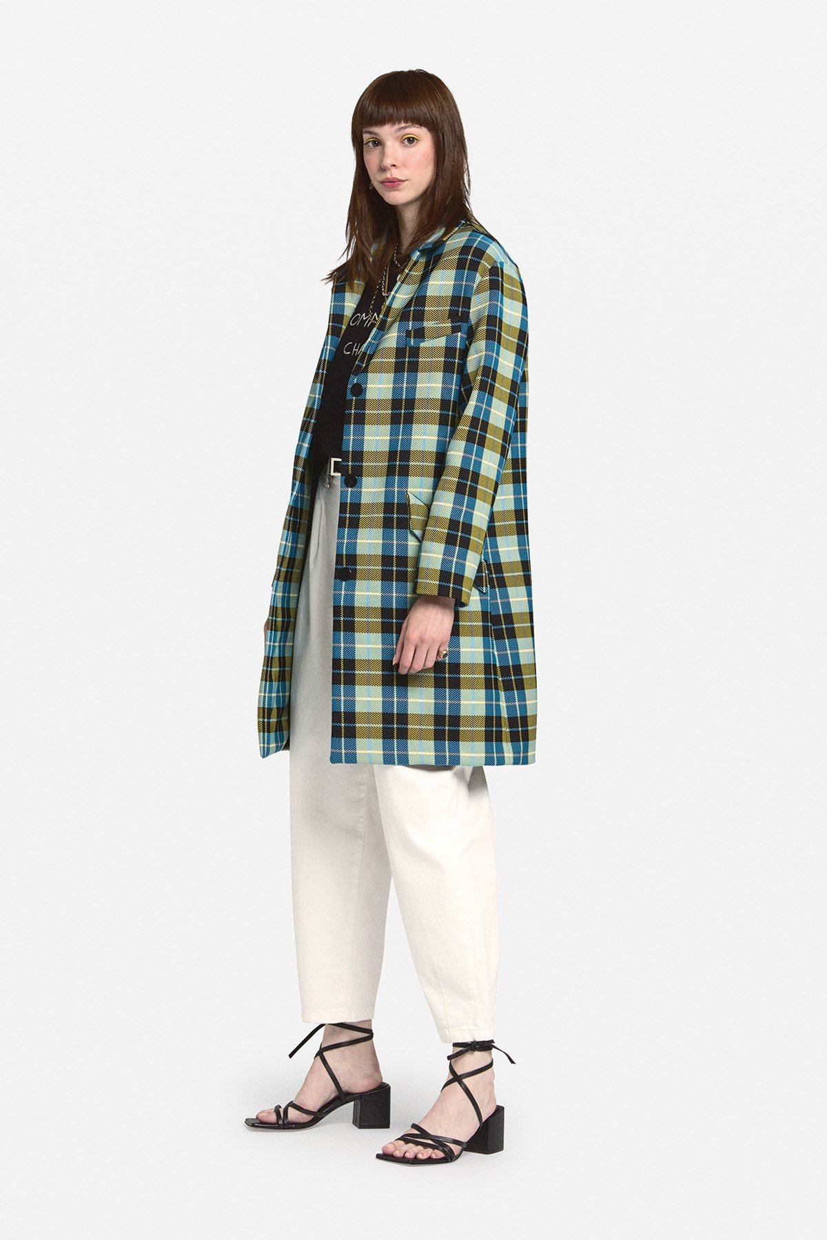 3 buttons' oversized overcoat