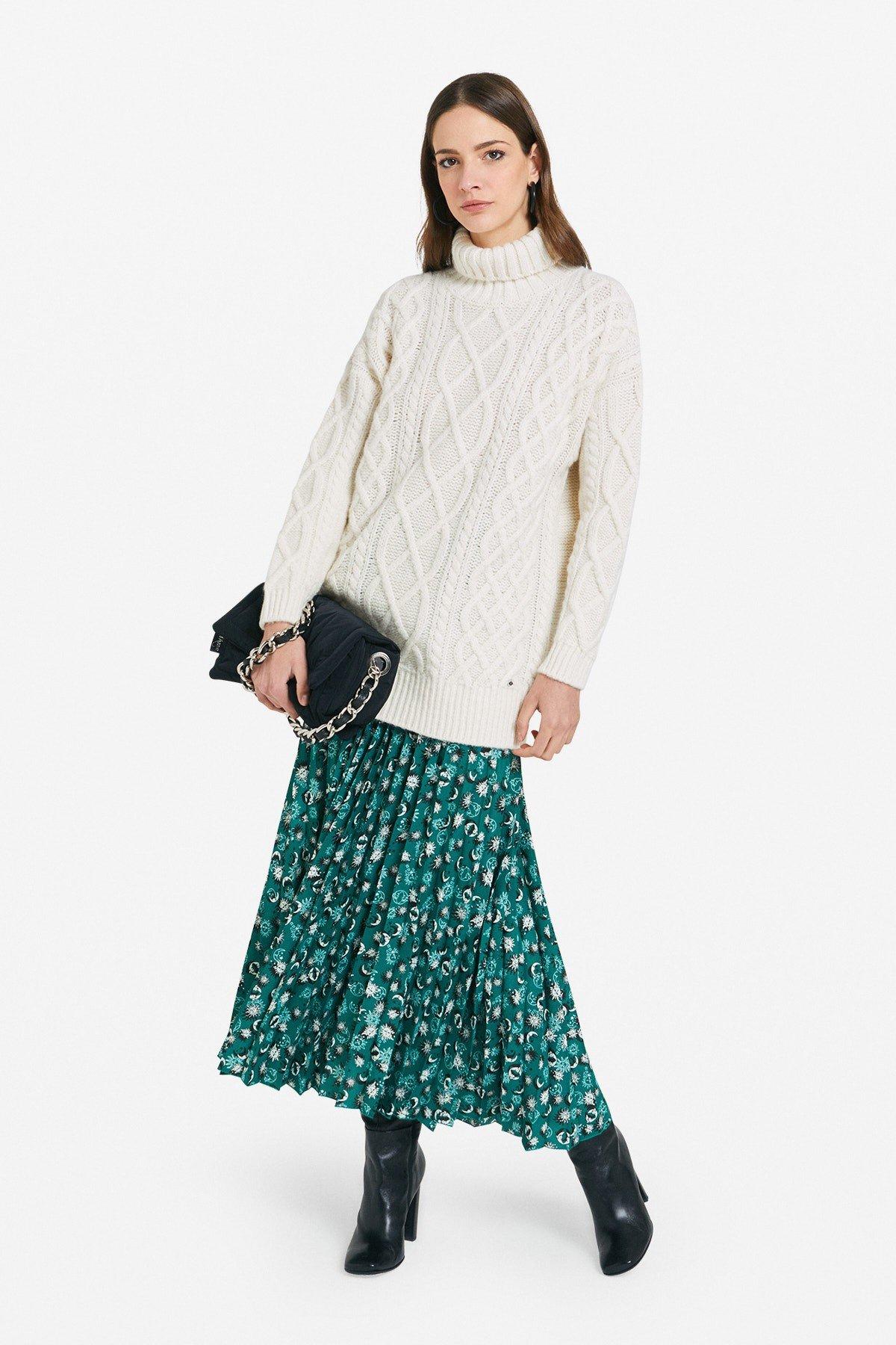 Processed wool blend jumper