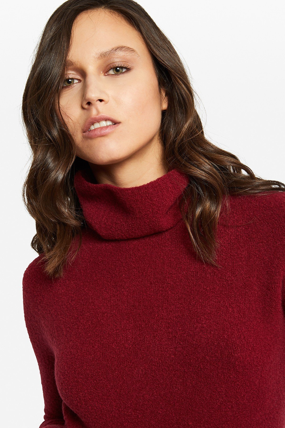 Polo-necked jumper