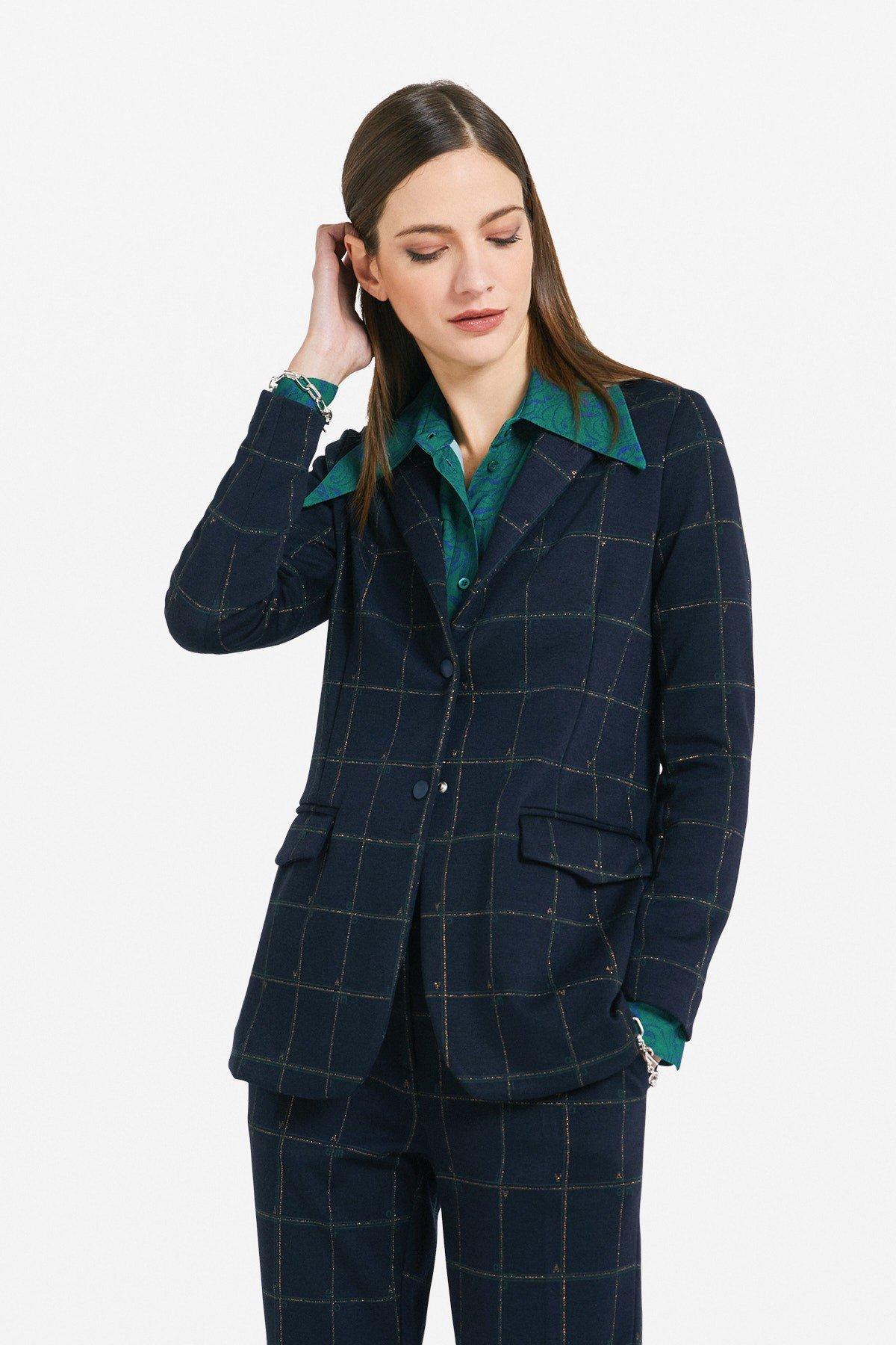 Tartan 3 buttons' jacket