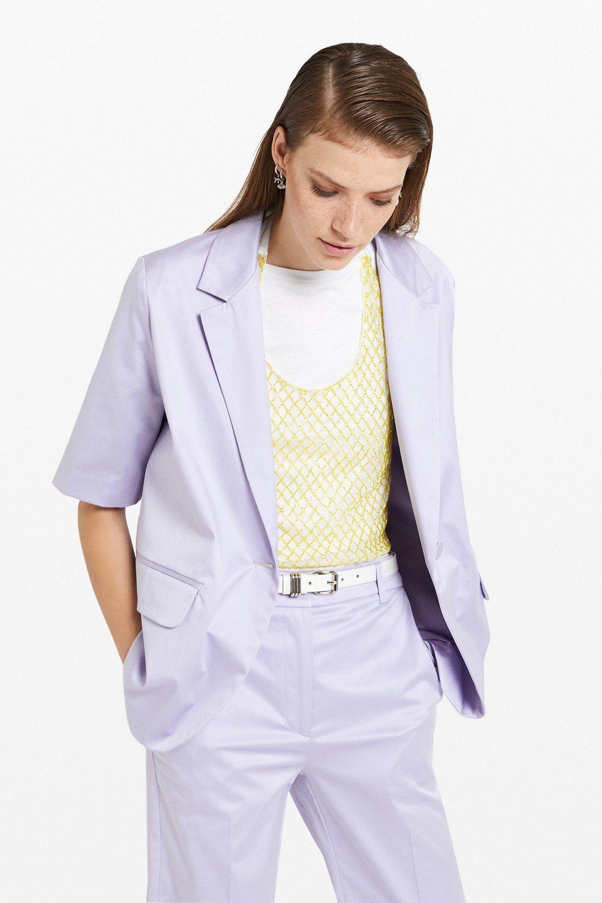 One button cotton jacket