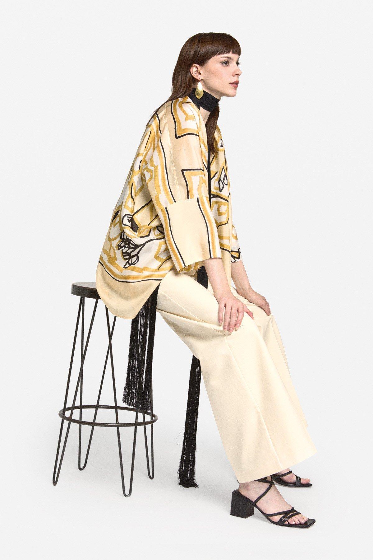 Silk dust coat
