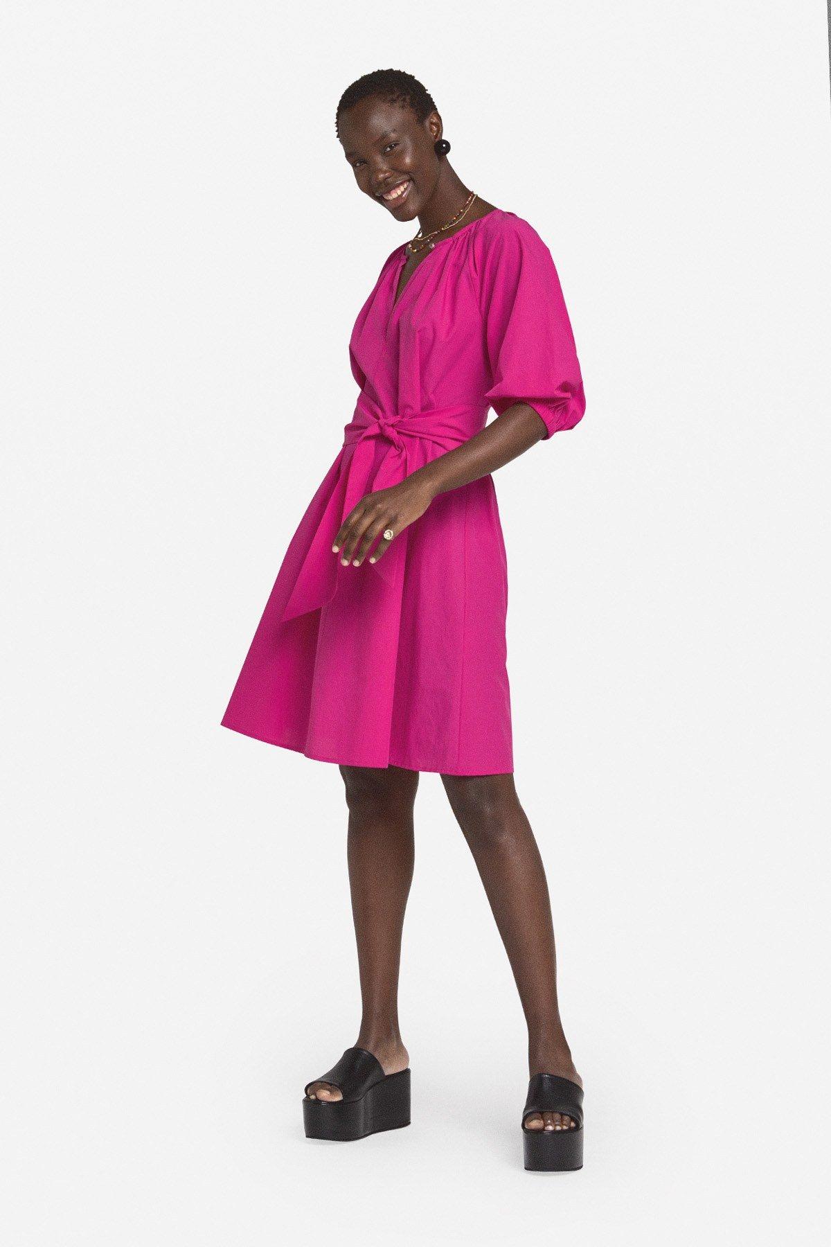 Poplin mini dress