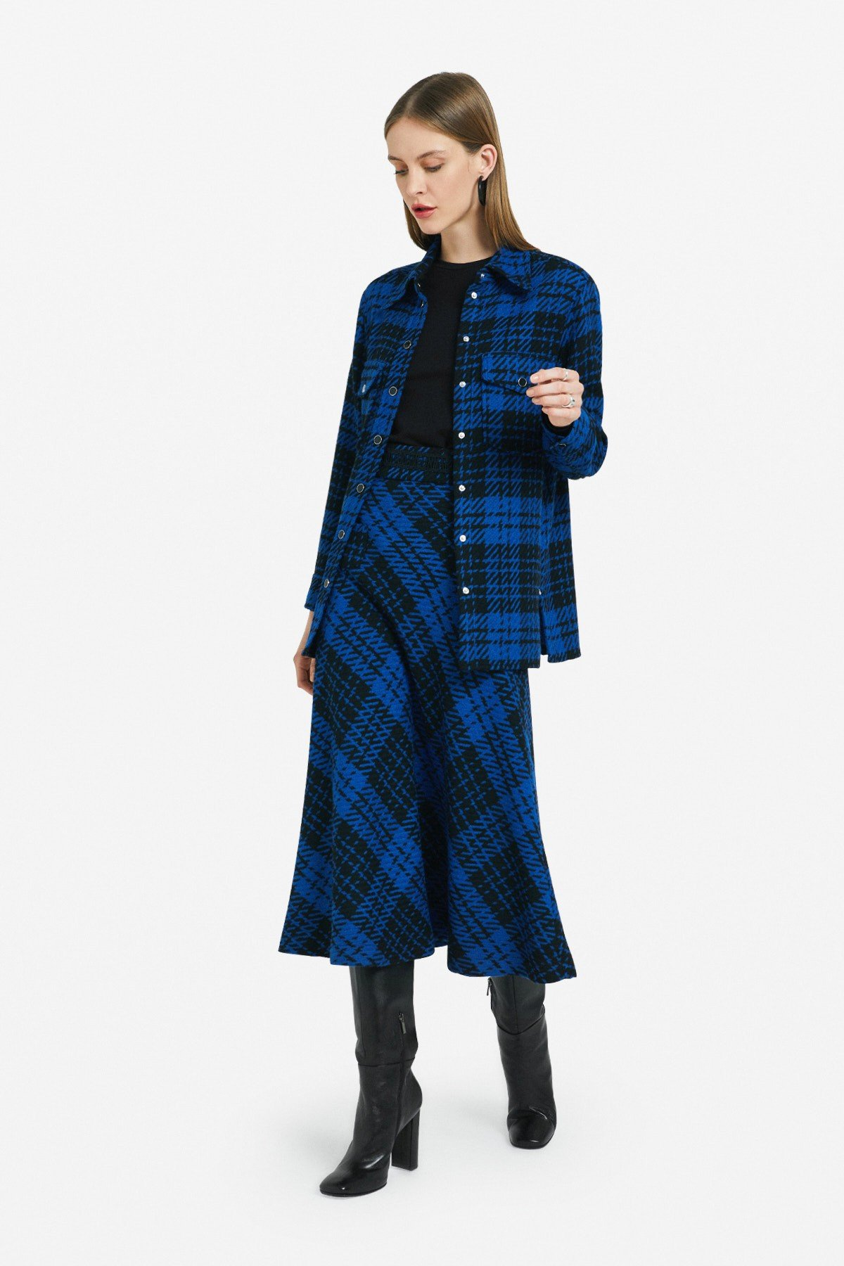 Oversized tartan shirt