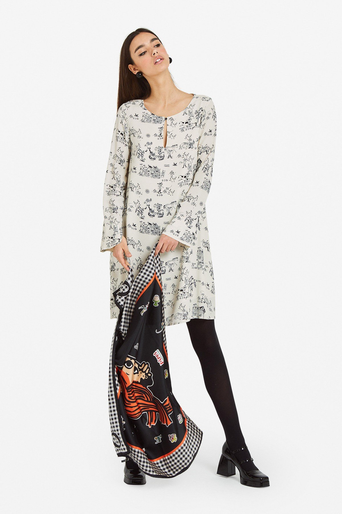 Viscose mini dress