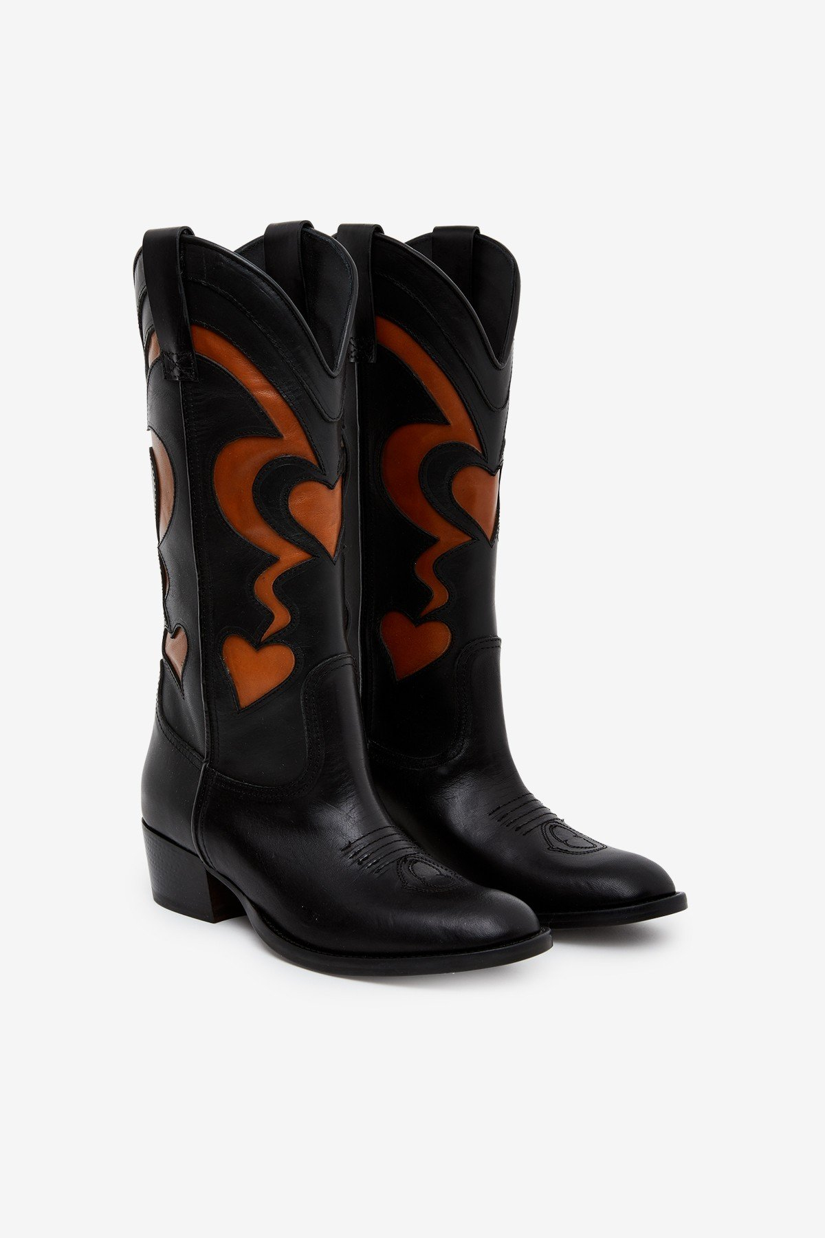 Leather Texan boots